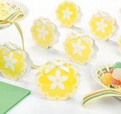 Yellow Flower Wedding Favor Boxes