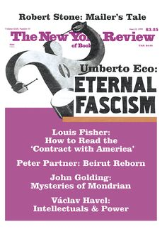 """""""Ur-Fascism,"""" by Umberto Eco   June 22, 1995   The New York Review of Books"""
