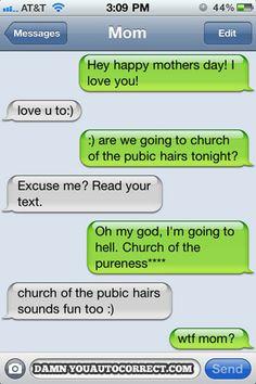 Mom gets funny