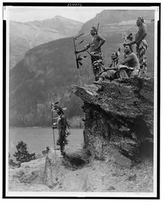 Blackfeet braves, glacier national park