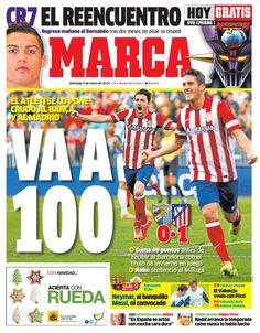 #Atleti en la portada del Marca.