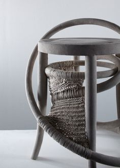 Knitted chair by Soojin Kang