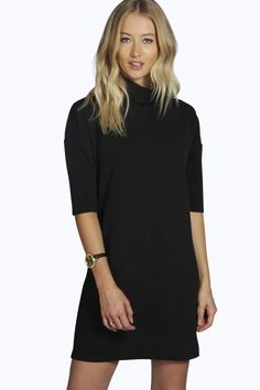 Designer Clothes, Shoes & Bags for Women Day To Night Dresses, Evening Dresses, Dresses For Work, Dresses With Sleeves, Bodycon Cocktail Dress, Bodycon Dress, 3 4 Sleeve Dress, Color Negra, Online Shopping Clothes