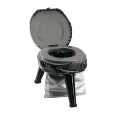 """This rugged, yet lightweight, toilet system is designed for camping, hunting, boating and emergency preparedness. Folds down to just 5"""" in height, making it easy to take anywhere. Unit boasts an impressive 300 lb. weight capacity. Ideally suited to be used with Double Doodie waste bags for no mess or cleanup. Maximum height: 14.5""""."""
