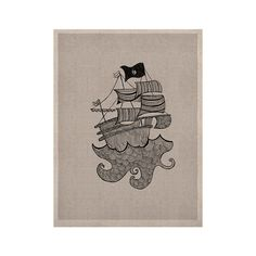 "Belinda Gillies ""Ships Ahoy"" Gray Nautical KESS Naturals Canvas (Frame not Included)"
