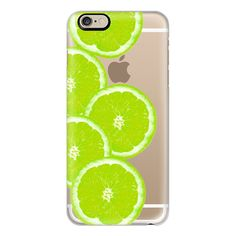 iPhone 6 Plus/6/5/5s/5c Case - Refreshing Fruity Citrus Neon Green... ($40) ❤ liked on Polyvore featuring accessories, tech accessories, phone, iphone case, apple iphone cases, print iphone case, lime green iphone case and iphone cover case