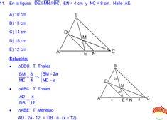 THALES Y PROPORCIONALIDAD EJERCICIOS RESUELTOS DE GEOMETRIA MATEMÁTICAS DE SECUNDARIA Y PREUNIVERSITARIA pdf B 13, Formulas, Line Chart, Ads, Trigonometry, Study Tips, Bead
