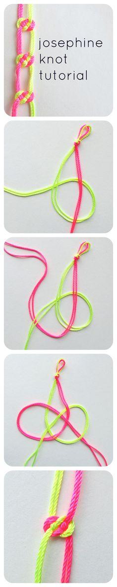josephine knot tutorial <3
