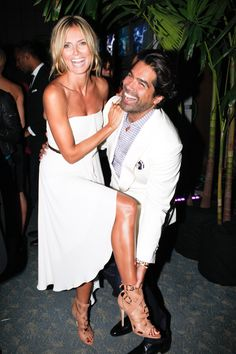 Heidi Klum and Brian Atwood get a leg up on the #NYFW festivities. #BrianAtwood