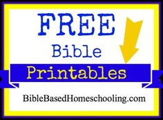 Free Bible Printables round-up from Bible Based Homeschooling {on a Budget}
