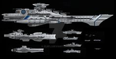 Concept ship- Confederate Starfleet by ClefJ on deviantART Spaceship Art, Spaceship Design, Concept Ships, Concept Art, Nave Star Wars, Alien Ship, Starship Concept, Space Engineers, Sci Fi Spaceships
