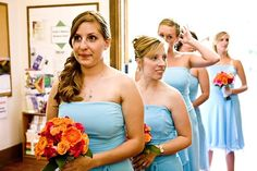 Like these bridesmaids bouquets