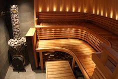 46 Sauna bath – Spa: The best ideas - Home Design Ideas Sauna Design, Home Gym Design, Saunas, Beautiful Interior Design, Beautiful Interiors, Jacuzzi, Future House, My House, Portable Steam Sauna