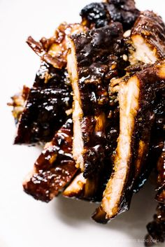 chinese style char siu slow cooked baby back ribs. sticky, sweet, charred deliciousness. super easy oven method!