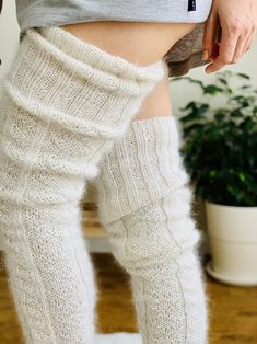 Cable Knit Socks, Knitting Socks, Thigh High Socks, Thigh Highs, Fluffy Socks, Cozy Socks, Sexy Lingerie, Cool Winter, Lingerie