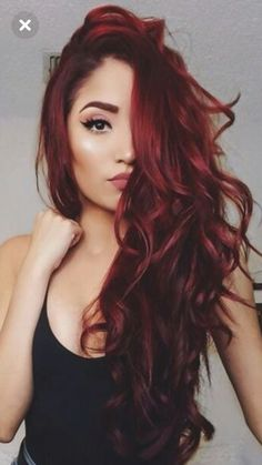 Red Balayage Hair Colors: 19 Hottest Examples for 2019 - Style My Hairs Ombre Hair Color, Hair Color Balayage, Cool Hair Color, Hair Colors, Dark Red Haircolor, Wine Red Hair Color, Deep Red Hair Color, Red Wine, Balayage Hairstyle