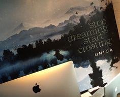 #Office #interior #wall graphics @unicacreative #branding