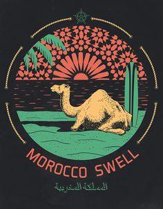 Morocco Swell | #poster #illustration - Maroc Désert Expérience tours http://www.marocdesertexperience.com