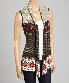 Black & Red Polka Dot Sweater Vest by Aryeh #zulily #zulilyfinds