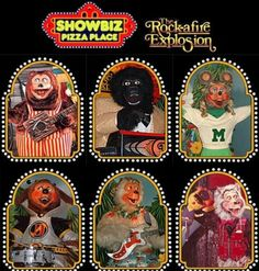 Showbiz Pizza Place before Chuck E Cheese took over. I'm surprised I wasn't terrified of these characters, but it was also a super special treat going there. Loved the pizza, but the games were even better!