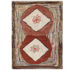 Antique American Hooked Rug | 1stdibs.com