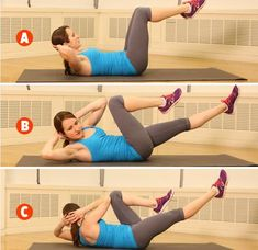 Did you know these 4 exercises to target your mommy tummy effectively. Secret moves to target your Mommy Tummy Beautiful bodies few days. While there are many ab exercises that target this area and work great to . Abs Workout Video, Tummy Workout, Ab Workout At Home, Belly Fat Workout, Crunch Workout, Tummy Exercises, Exercise Workouts, Workout Fitness, Lower Belly Fat