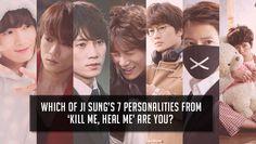 Which of Ji Sung's 7 personalities from 'Kill Me, Heal Me' are you? I am Shin Se Gi fuck yeah KMHM Korean Celebrities, Korean Actors, Korean Dramas, Kill Me Heal Me, Kdrama, Watch Korean Drama, Drama Fever, Weightlifting Fairy Kim Bok Joo, Doctor Johns