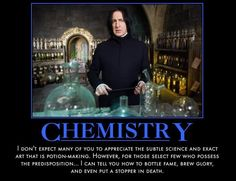 Chemistry!! It is the Potions of muggle high school
