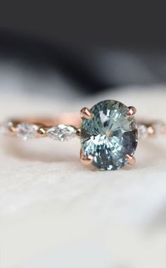 Vintage Sapphire Engagement Rings, Coloured Engagement Rings, Green Sapphire Engagement Ring, Most Beautiful Engagement Rings, Sapphire Rings, Oval Wedding Rings, Family Jewels, Color Ring, Vintage Jewellery