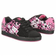Athletics DC Shoes Women's Pixie Black Pink FamousFootwear.com