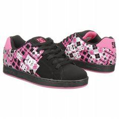 Athletics DC Shoes Women's Pixie Black Pink FamousFootwear.com