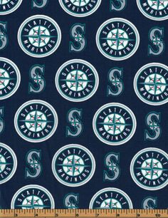 Seattle Mariners - MLB Fabric |100% Cotton|Sold by the half yard