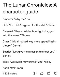 The Lunar Chronicles: A character guide - Absurdity Is The Source Of Awesomeness Lunar Chronicles Quotes, Lunar Chronicles Cinder, Lunar Chronicles Headcanons, Book Tv, Book Nerd, Writing Quotes, Book Quotes, Good Books, My Books