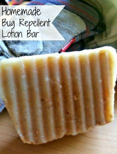 Make Your Own Homemade Bug Repellent Lotion Bar!