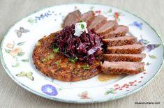 Varza rosie calita simpla sau cu mere | Savori Urbane Steak, Pork, Cooking, Pork Roulade, Cucina, Pigs, Kochen, Cuisine, Brewing