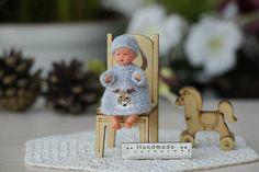 2-inch doll Miniature Winter crochet dress Crochet clothes