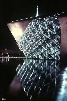 The Guangzhou Opera House. Design: Zaha Hadid Architects with Patrik Schumacher. Completed: 2011. Photo Jimmy Tsang