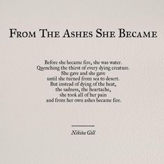 "2,540 Likes, 47 Comments - Nikita Gill (@nikita_gill) on Instagram: ""An excerpt from my new myth poem ""Rise Phoenix, Rise"" - a reflection on taking your pain and…"""