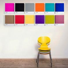 Pantone Art - Colorblöcke auf Leinwand