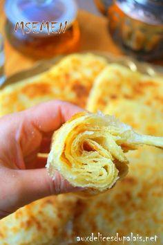 Msemen crêpe marocaine (recette pas à pas en images)