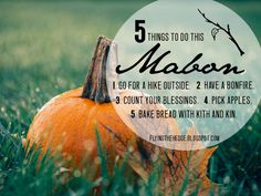 5 Things To Do This Mabon