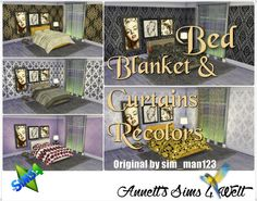 Annett's Sims 4 Welt: Bed, Blanket & Curtains Recolor