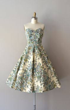 1950s dress - the material on this is lovely.