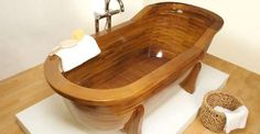 Wood-Made Bathtub