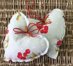 Hanging heart decoration - shabby chic / home decor