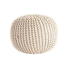 $83.99 Saro Cotton Twisted Rope Pouf Ottoman & Reviews | Wayfair