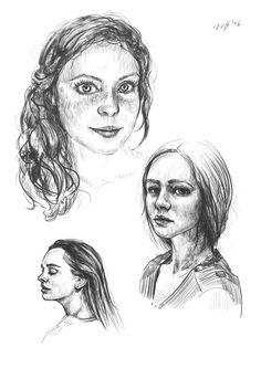 Szkice postaci #art #digital #painting #portrait