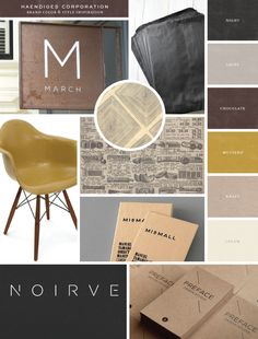 Inspiration board for the brand exploration for Haendiges Corporation - Salted Ink Design Co.