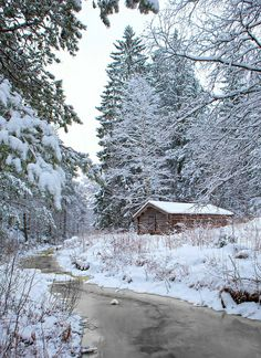 Fabulous Winter through 20 Fabulous Photos Such a reminder of home, I could cry Winter Cabin, Winter Love, Cozy Cabin, Cozy Cottage, Beautiful Winter Scenes, Winter Scenery, Snow Scenes, Winter Beauty, Winter Pictures