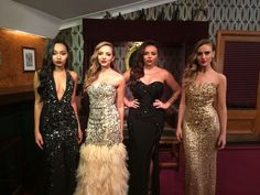 Little Mix performing at The Royal Variety Show 2015.